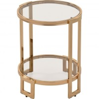 Victoria End Table (Color: Rose gold)