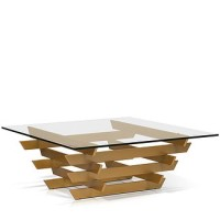 Monroe Coffee Table (Gold base)
