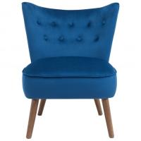 Liam Accent Chair (Fabric: Velvet/Color: Blue)
