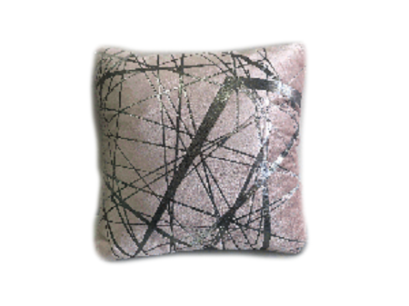 PINK PILLOW WITH SILVER LINES (PLL230)