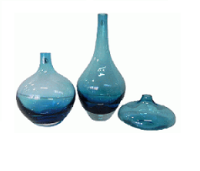 BLUE VASE SET OF 3 (VSS19)