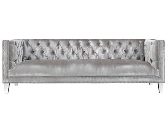 Chloe Sofa – Premium Grey Velvet