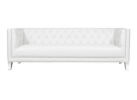 Chloe Sofa (White Leather)