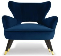 Josh Accent Chair (Color Navy Blue)