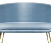 Amy Blue Loveseat