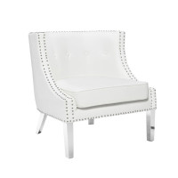 Panama Accent Chair -White Leather