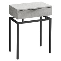 Alexa Night Table/End Table (Grey w/black)