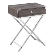Carly Night Table- Taupe