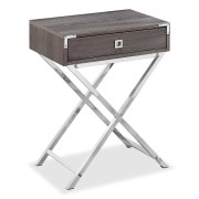 Carly night table taupe