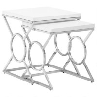 Kandee Nesting Table (White)