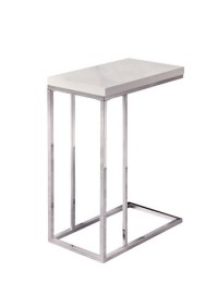 Jen Night Table/ End Table (White glossy top)
