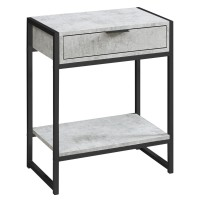 Maya End Table (Color: Grey)
