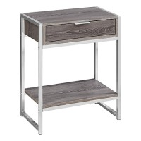 Maya End Table (Color: Taupe)