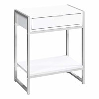 Maya End Table (Color: White)