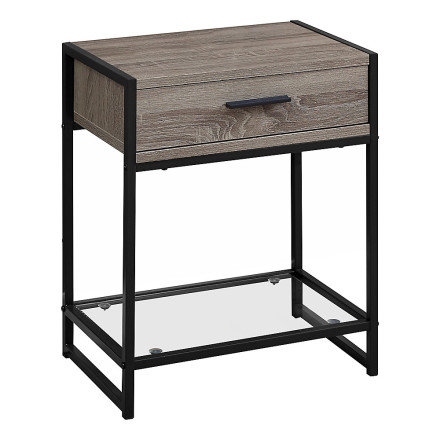 Elena End Table (Taupe)