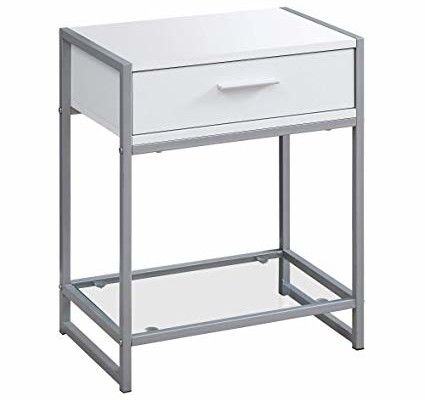 Elena End Table (White)