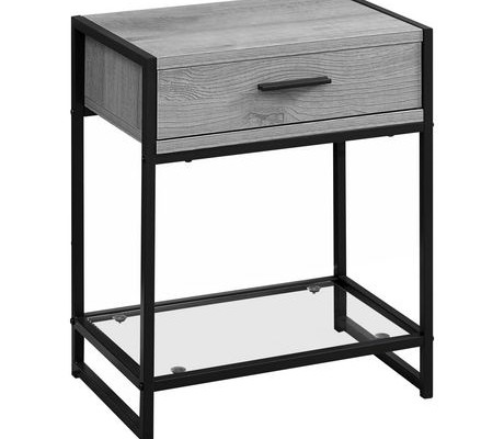 Elena End Table (Grey)