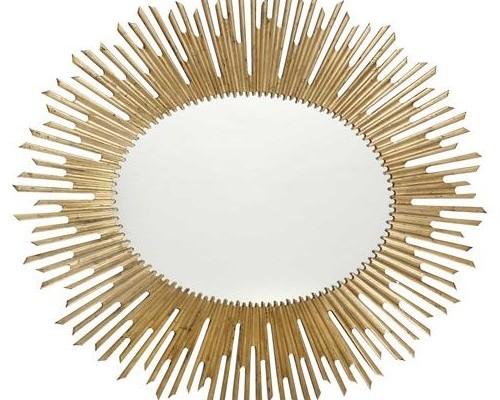 Gold Oval Sunburst Mirror (MR 55)