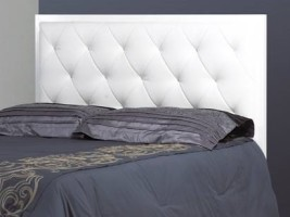 Allie Headboard Double (White Leather)