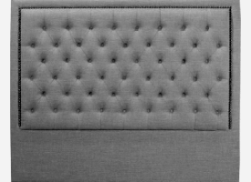 Diamond Headboard Queen (Grey)