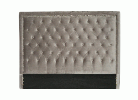 Diamond Headboard Queen (Velvet Grey)